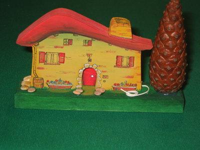 Casetta in miniatura VILLETTA TOSCANA . Fatta interamente a mano. Ovviamente pezzo unico!