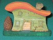 Casetta in miniatura FAR WEST . Fatta interamente a mano. Ovviamente pezzo unico!