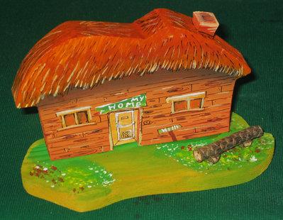 Casetta in miniatura SAVANA . Fatta interamente a mano. Ovviamente pezzo unico!