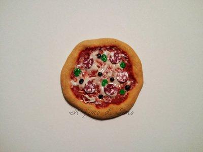 calamita pizza in fimo