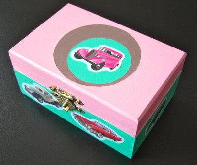 """Mini-portagioie """"Crazy for Cars"""""""