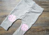 Pantaloni per neonato in ciniglia con toppe