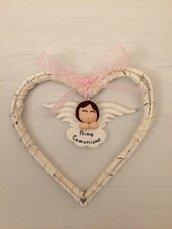Bomboniera angelo con cuore