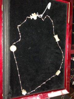 collana lunga argento