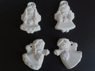 Angeli in polvere di ceramica da appendere