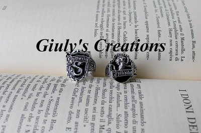 Anello Grifondoro Serpeverde case Hogwarts HARRY POTTER Griffindor Slytherin HP