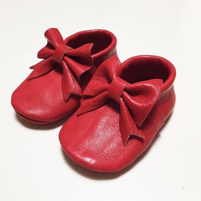 MOCASSINI IN VERA PELLE con fiocco per neonata