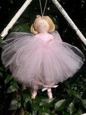 Ballerina in tulle rosa 15 cm