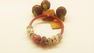 Bracciale color ciliegia