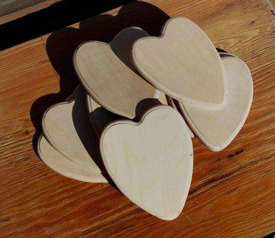 Cuori in legno bisellati ( 10 pezzi)