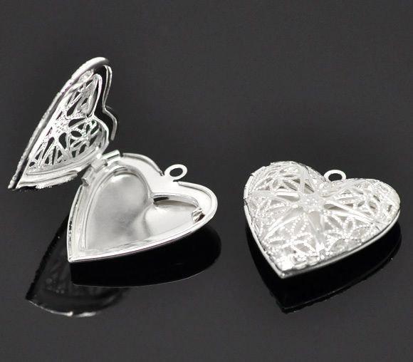 ciondolo cuore apribile per foto idea regalo s. valentino argento sterling
