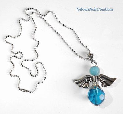 Collana Con angelo custode azzurro