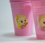 bicchiere con decoro di calimero