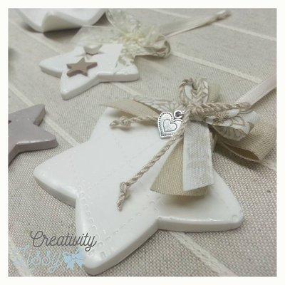 BOMBONIERA - stellina decorativa/portachiavi/ciondolo
