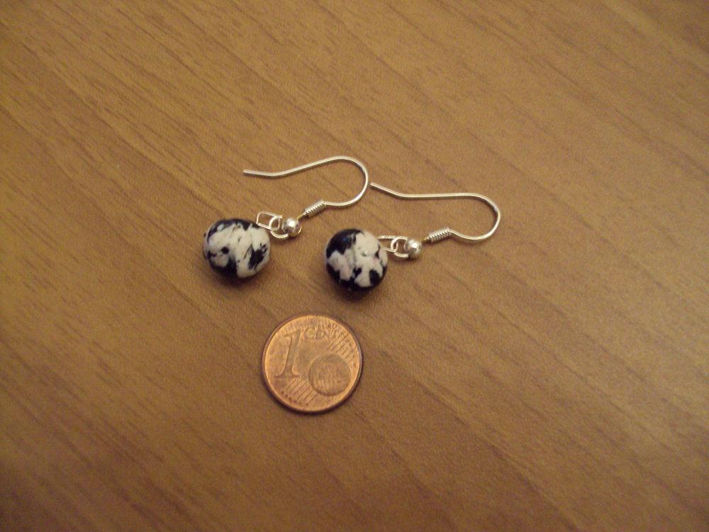 Orecchini palline bianco-nero
