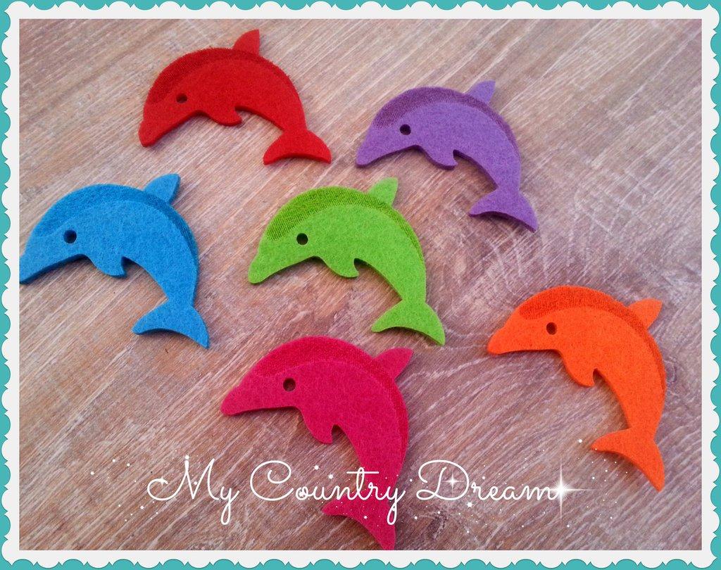 Delfini in feltro