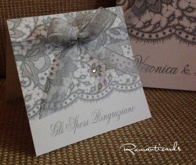 Segna Posto in stile pizzo Modello Burano by Romanticards