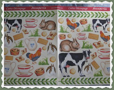 "Carta Decoupage Stamperia ""Mucche Country"""