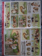 "Carta Decoupage Stamperia ""Gattini vintage"""