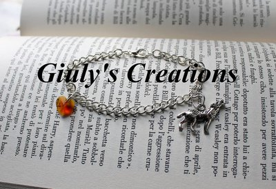 Bracciale Bella Swan lupo e cuore TWILIGHT ECLIPSE Bella Edward Cullen Jacob