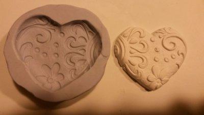 Stampo cuore decorato