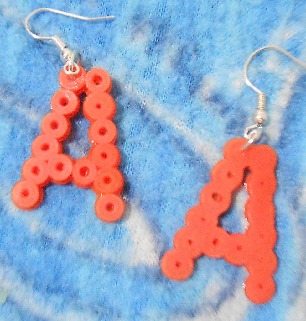 orecchini lettere pyssla
