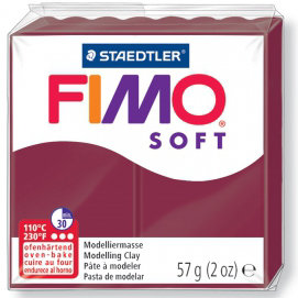 Panetto Fimo Soft 57 gr. - n. 23 Rosso Merlot
