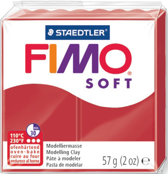 Panetto Fimo Soft 57 gr. - n. 2 Christmas Red