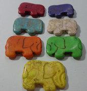 50% DI SCONTO - 7 Perline Elefante 7 Colori