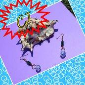 orecchini wire con perlina
