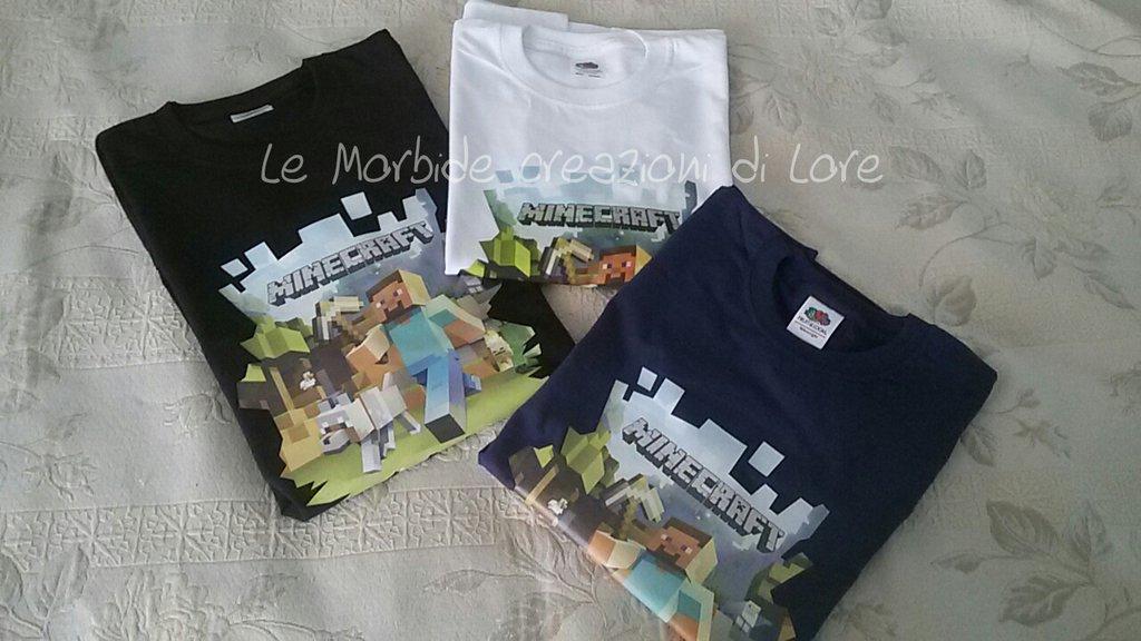 Bambini Personalizzata Di T Shirt Abbigliamento Minecraft Le QsxthdCBr