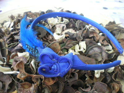 Blu Zipper Hairband - cerchietto
