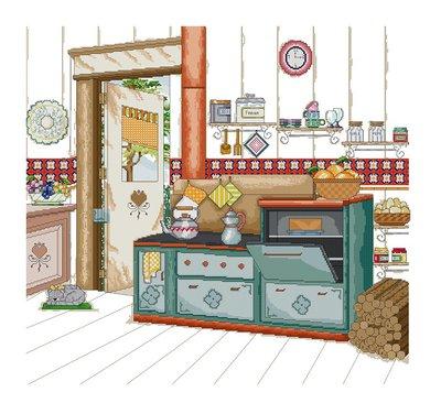 """Schemi punto croce """"La cucina di Nonna"""""""