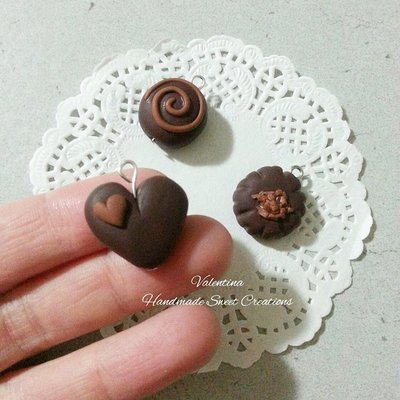 Ciondolo cioccolatini fimo