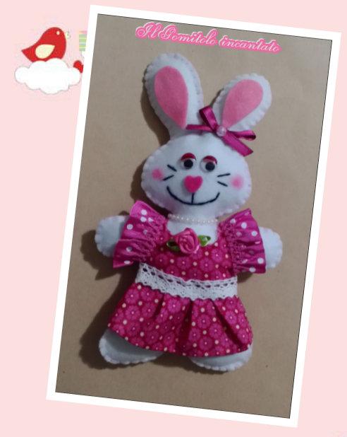 Coniglietta Pasqua in pannolenci