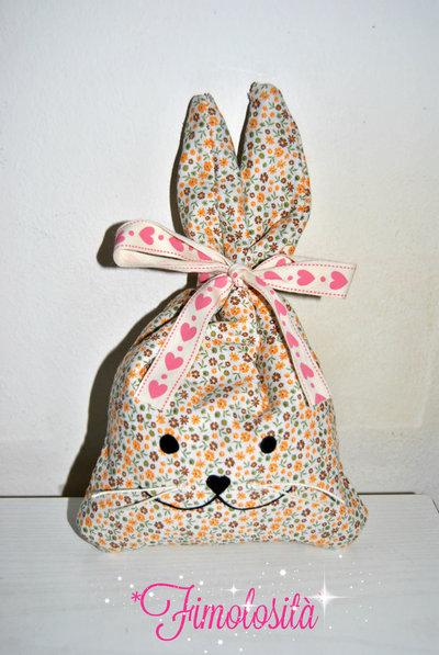 Coniglietti pasquali porta ovetti di cioccolato