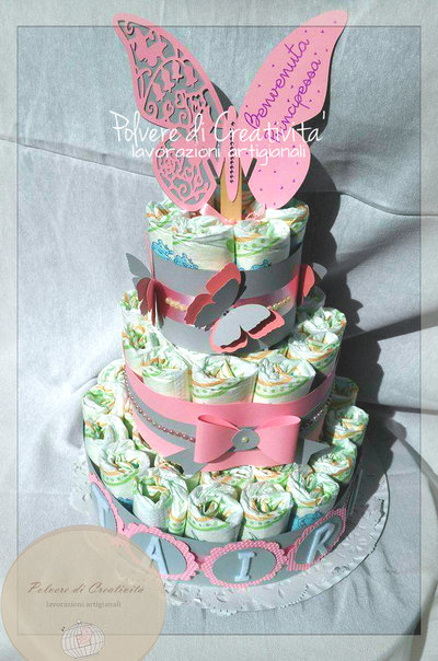 Torta di Pannolini - Diaper Cake Handmade