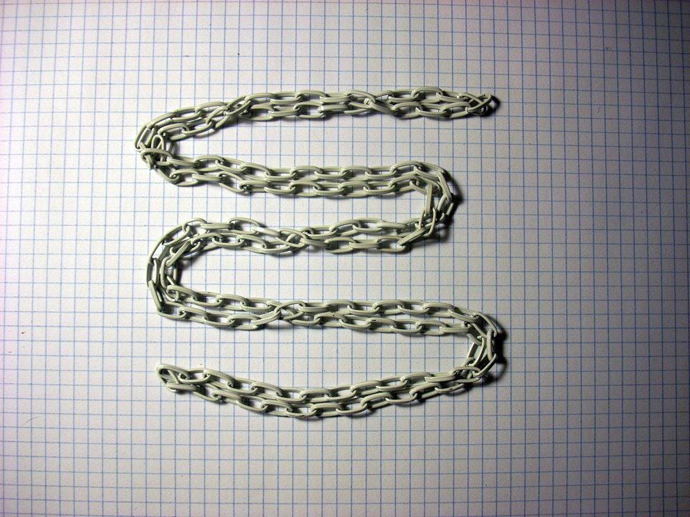 1 metro di catena bianca