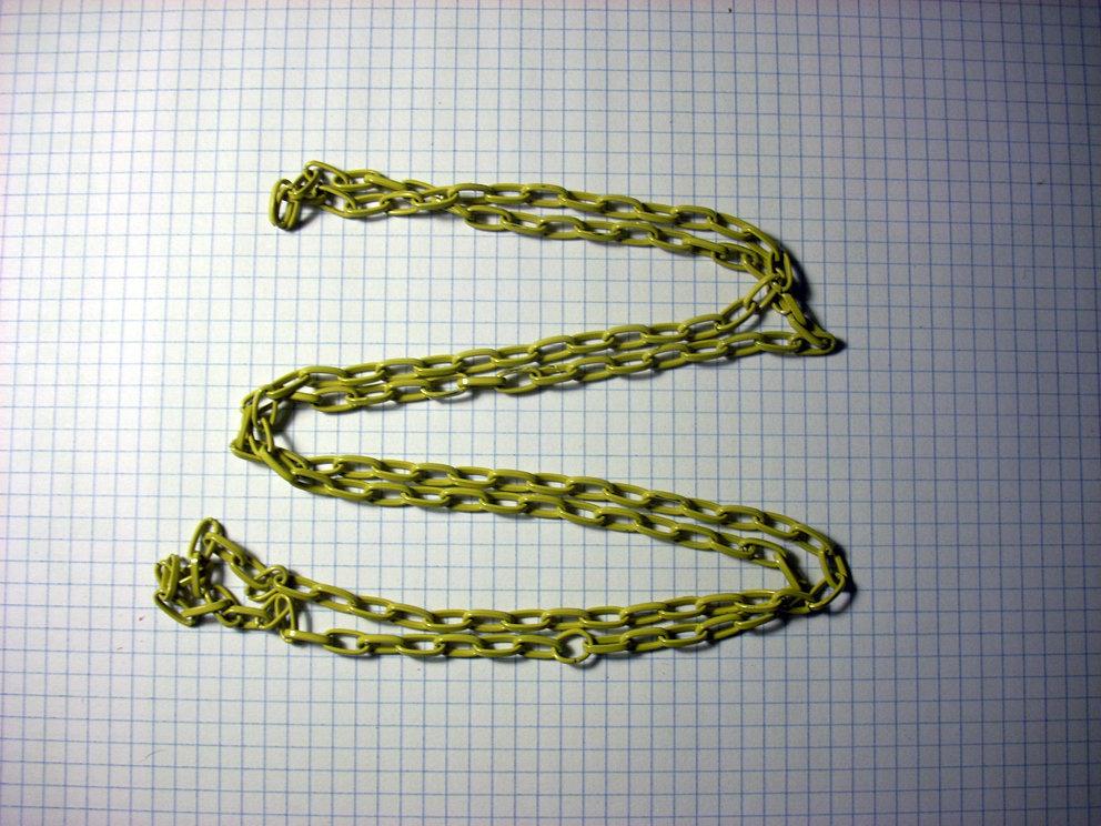 1 metro di catena gialla