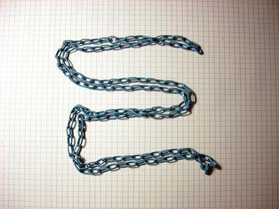 1 metro di catena azzurra