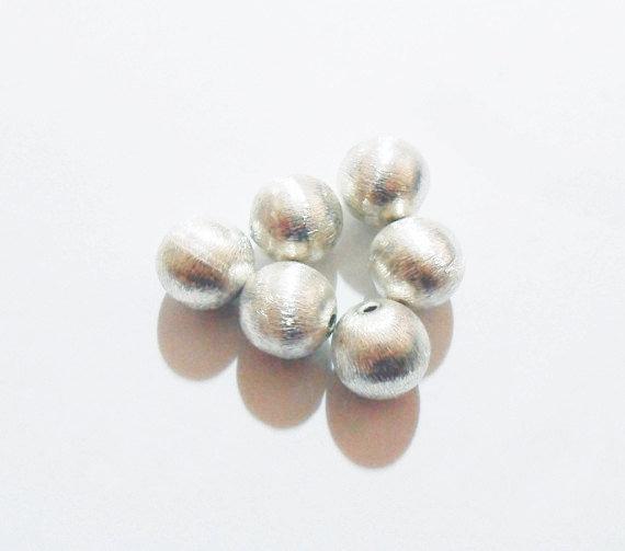 Perlina tonda in argento indiano satinato mm 12
