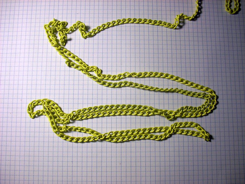 1 metro di catena giallo chiaro