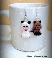 Orecchini in fimo handmade Hello Spank kawaii miniature idee regalo amica regalo epifania compleanno bomboniere