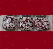 6 Perline in pietra sintetica TORRONE