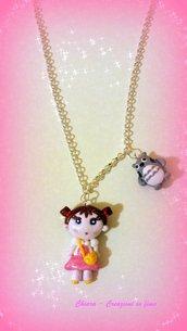 Collana con ciondolo in fimo Totoro kawaii idee regalo amica