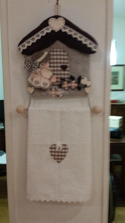 casetta feltro porta asciughino