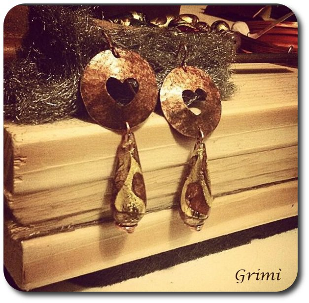 Orecchini in rame Love / Love Earrings