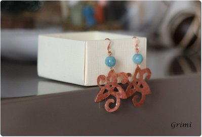 Orecchini Triskell in rame / Triskell copper earrings