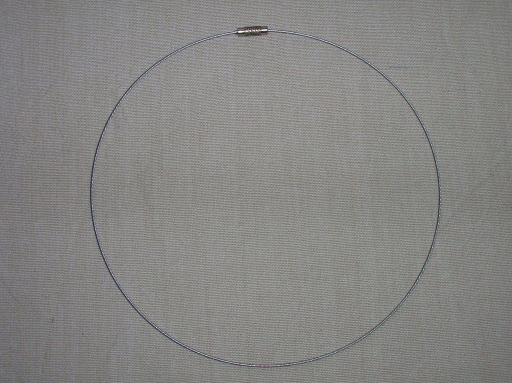 Collana filo d'acciaio plastificato ARGENTO