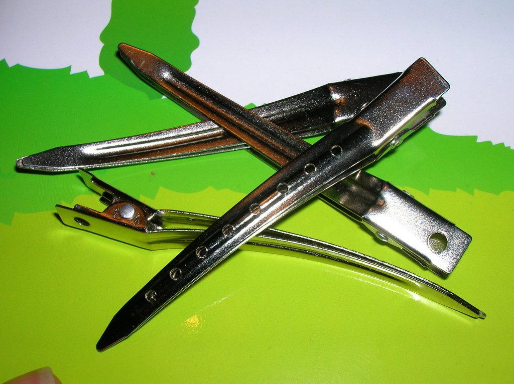 Pinza capelli acciaio cm.8.5 da decorare